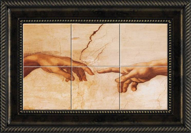 Tile wikipedia the free encyclopedia ask home design for Creation of adam mural
