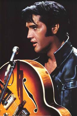 Elvis Presley in his '68 Comeback Special, air...