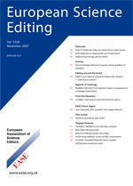 European Science Editing journal cover.jpg