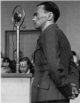 Henry Rinnan testifying at his trial