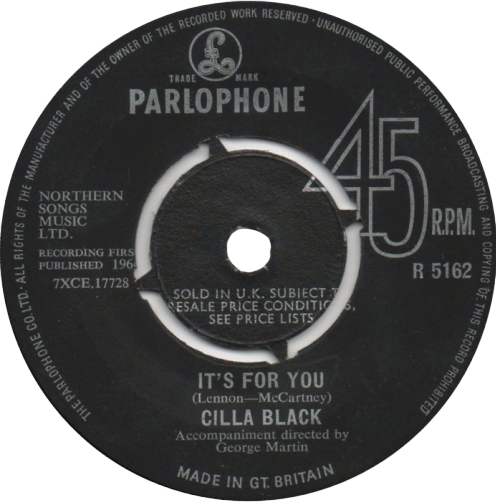 Its for You 1964 single by Cilla Black