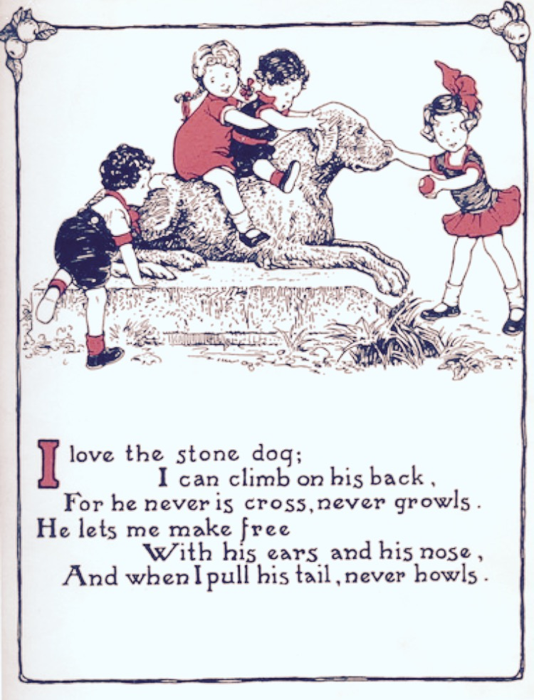 Filestone Dog Poem Peggy In The Park Ballantine 1933
