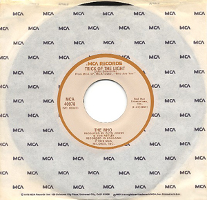 Trick of the Light (The Who song) 1978 single by The Who