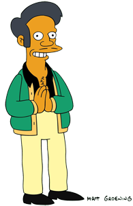 Apu Nahasapeemapetilon character from The Simpsons