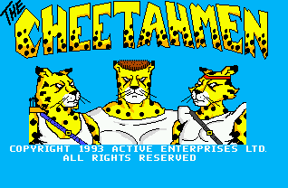 The title screen for the Sega Genesis version.
