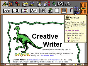 Screenshot of the original Creative Writer.