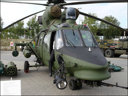 Okol said Sokol Falcon helicopter has weapons that include a GSz-23L