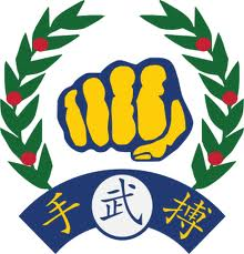 Moo Duk Kwan fist logo, created by Hwang Kee in 1955