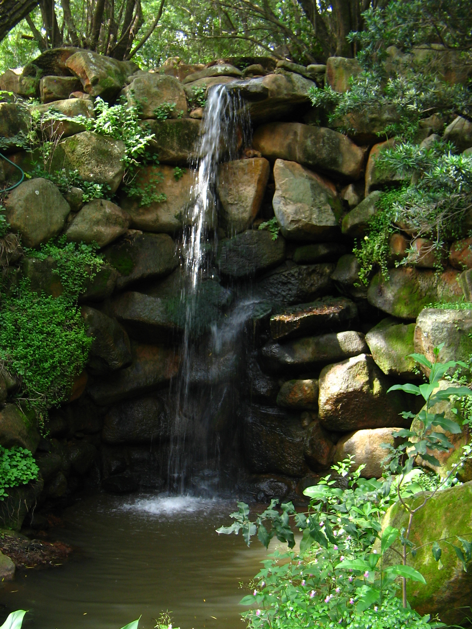 File North West University Botanical Garden waterfall