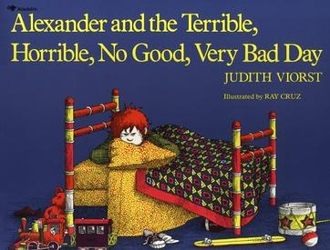 Book cover to 'Alexander and the Terrible, Horrible, No Good, Very Bad Day'