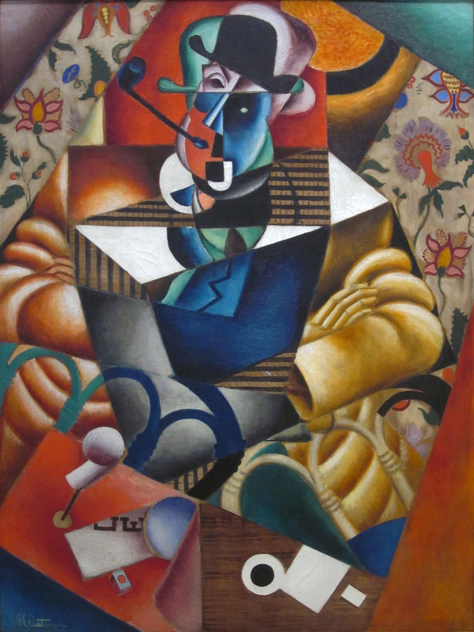 the cubist painters aesthetic meditations  jean metzinger c 1913 le fumeur man pipe oil on canvas 129 7 x 96 68 cm carnegie museum of art pittsburgh pennsylvania
