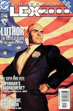 Cover to Lex 2000 #1, featuring Lex Luthor as ...
