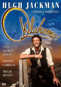 Hugh Jackman on the cover of the DVD of the London revival Oklahoma! (London Stage Revival) .jpeg