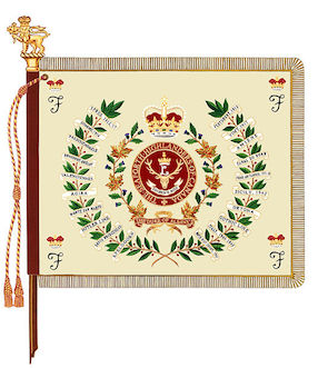The regimental colour of The Seaforth Highlanders of Canada.
