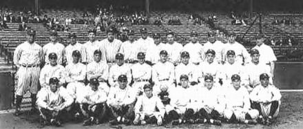 The 1927 New York Yankees.