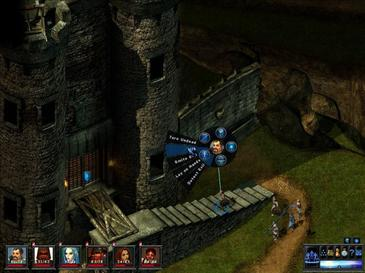 A radial menu is used for choosing a character's actions Toee 5.jpg