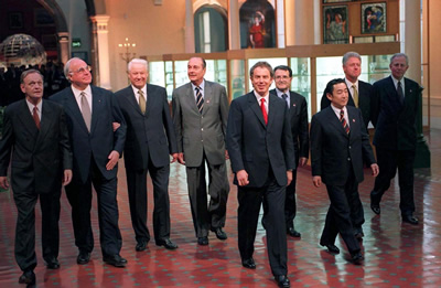 World leaders meet in Birmingham for the 1998 G8 Summit G8 Summit Birmingham 1998.jpg