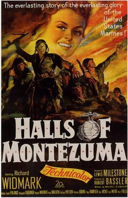 Halls of Montezuma Richard Widmark movie poster