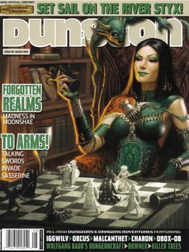 Illustrazione di Iggwilv sulla copertina del magazine Dungeon