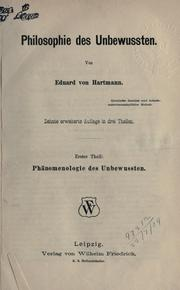<i>Philosophy of the Unconscious</i> book by Karl Robert Eduard von Hartmann