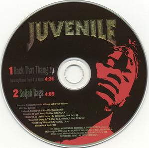 Juvenile featuring Mannie Fresh and Lil Wayne — Back That Thang Up (studio acapella)