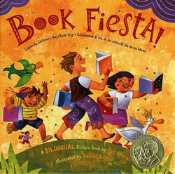 Book Fiesta! cover, illustrated by Rafael López