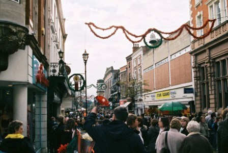 Lincoln City Centre during Christmas Market
