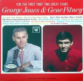 For The First Time Two Great Stars George Jones And Gene Pitney