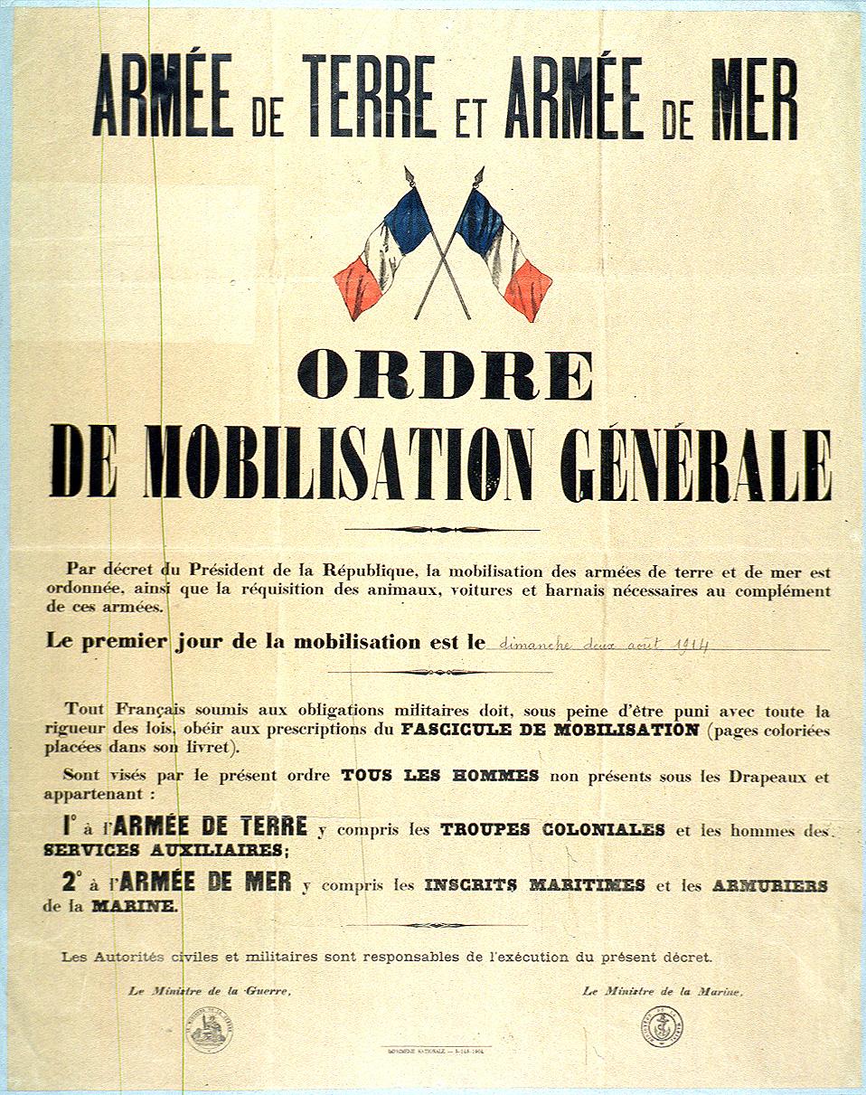FileMobilisation Order France 2 August 1914JPG