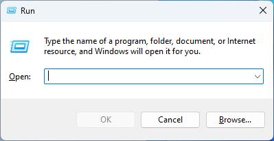 "Windows 系统中的""运行""对话框"