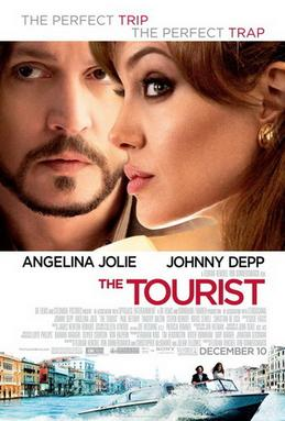 Pòster del film The Tourist, mostrant l'Angelina Jolie i el Johnny Depp