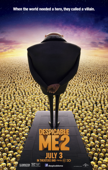 Movie release poster for Despicable Me 2, courtesy Universal Pictures