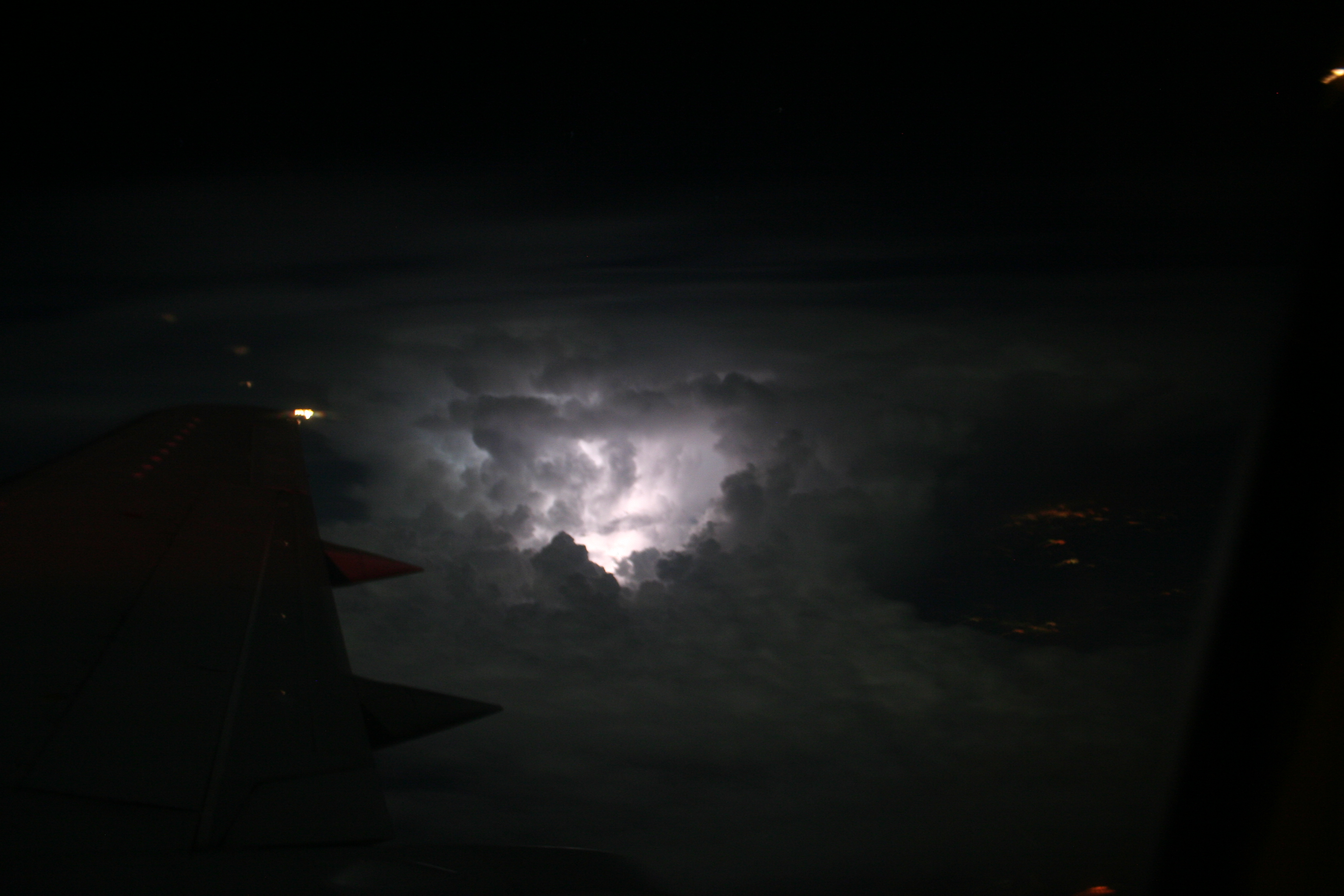 Lightning wikipedia view of lightning from an airplane flying above a system buycottarizona