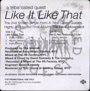 Cover image of song Like It like That by A Tribe Called Quest