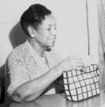 A photograph of Maud Williams taken at a state NAACP meeting in Dallas, Texas, June 1954