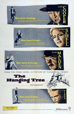The hanging tree Gary Cooper vintage Movie poster print