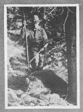 Picture of Saxton Pope taken while grizzly hunting at Yellowstone