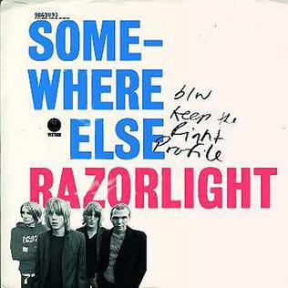 翻唱歌曲的图像 Somewhere Else 由 Razorlight