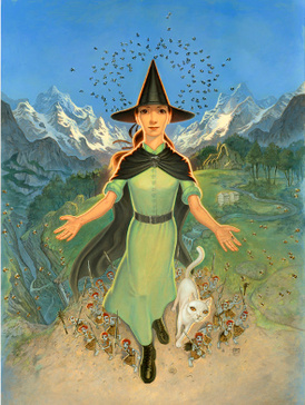 Tiffany Aching in The Shepherd's Crown, as drawn by Paul Kidby. Tiffany ages as the series goes on. Tiffany Aching in The Shepherd's Crown.png
