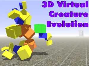 3D Virtual Creature Evolution title image displaying a screenshot of a creature.