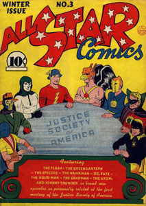 Cover of All Star Comics #3 (Winter 1940-1941)...