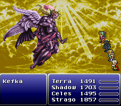 Kefka as the God of Magic has been compared to depictions of Lucifer Angelkefka.png