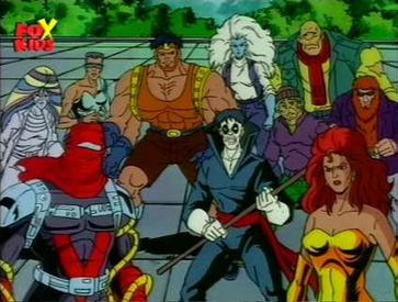 list of xmen tv series characters wikipedia