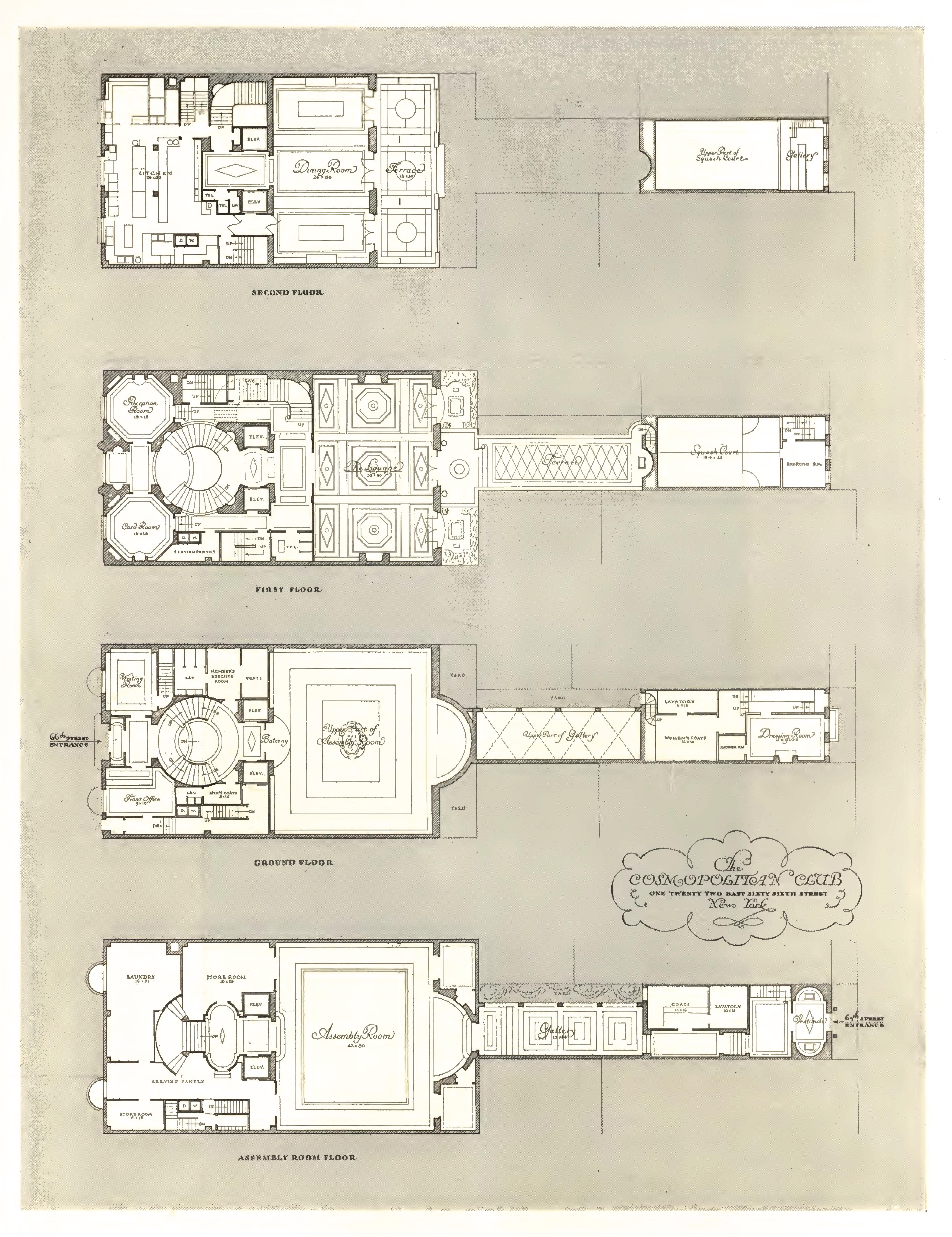 File Cosmopolitan Club Floor Plans 1933 Jpg Wikipedia