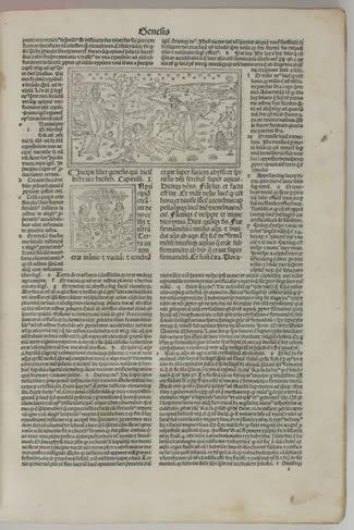 A page of Genesis in Postillae perpetuae... Ba...