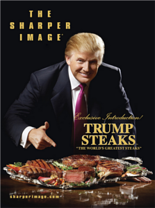 discontinued steak brand owned by Donald Trump