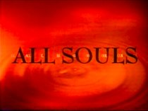 "An image with the text ""All Souls"" set against a sepia backdrop of a ripple in water."