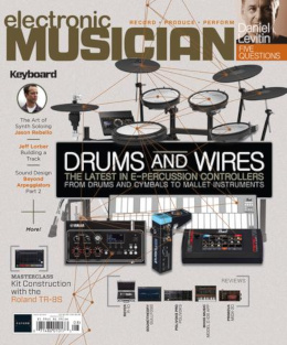 <i>Electronic Musician</i> monthly magazine featuring articles on synthesizers, music production and electronic musicians