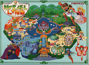 Japanese arcade flyer of Marvel Land.