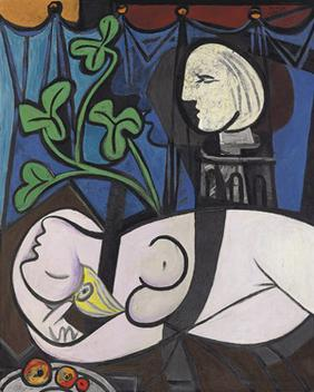 "Image result for 2010 - Pablo Picasso's ""Nude, Green Leaves and Bust"" sold for $106.5 million."